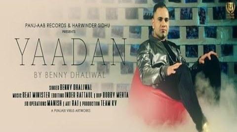 Yaadan-Lyrics-BennyDhaliwal