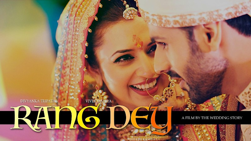 rang dey song lyrics, rang dey divyanka vivek wedding song, rang dey wedding song lyrics