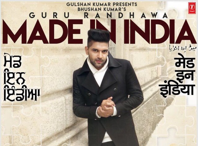 made in india lyrics guru randhawa. Black Bedroom Furniture Sets. Home Design Ideas